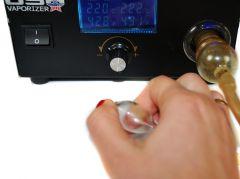 Jak palić Z vaporizera rozpoczecie inhalacji zatkanie ustnika