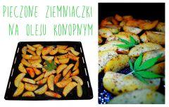 Pieczone Ziemniaki z olejem konopnym w ziołach.