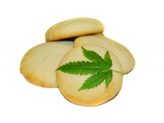 Kruche ciasteczka konopne - gotowy wyrób cukierniczy