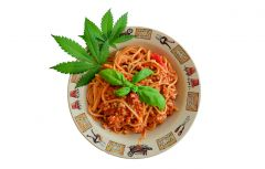 Cannabis Tomato pasta   makaron Z marihuana talerzyk ogrodnika