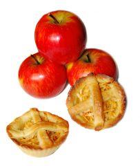 Kruche babeczki konopne z jabłkiem