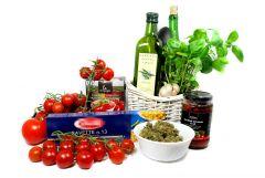 Bavette w mocnym sosie pomidorowym z indykiem i suszem konopi Super Silver Haze produkty i akcesoria