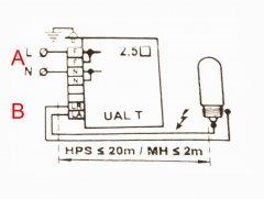 Schemat podłączenia lampy HPS / MH