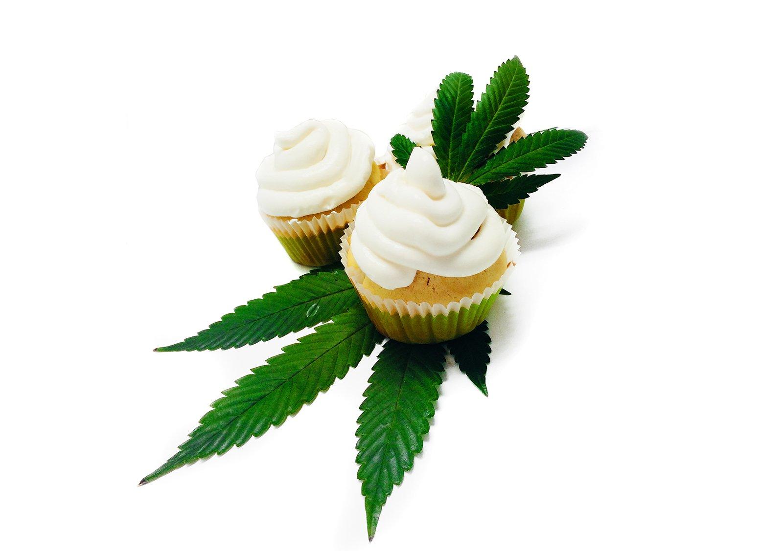 Cannabis cookie - cannabis cupcake maso konopne